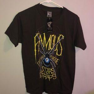 Famous stars & straps spider black widow shirt